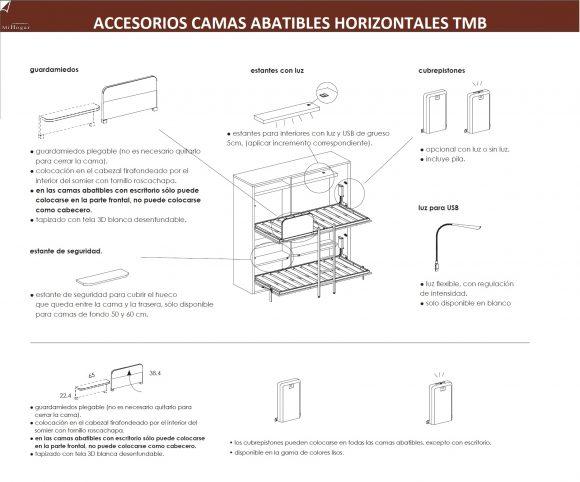 ACCESORIOS-CAMAS-ABATIBLES-DORMITORIO JUVENIL TMB