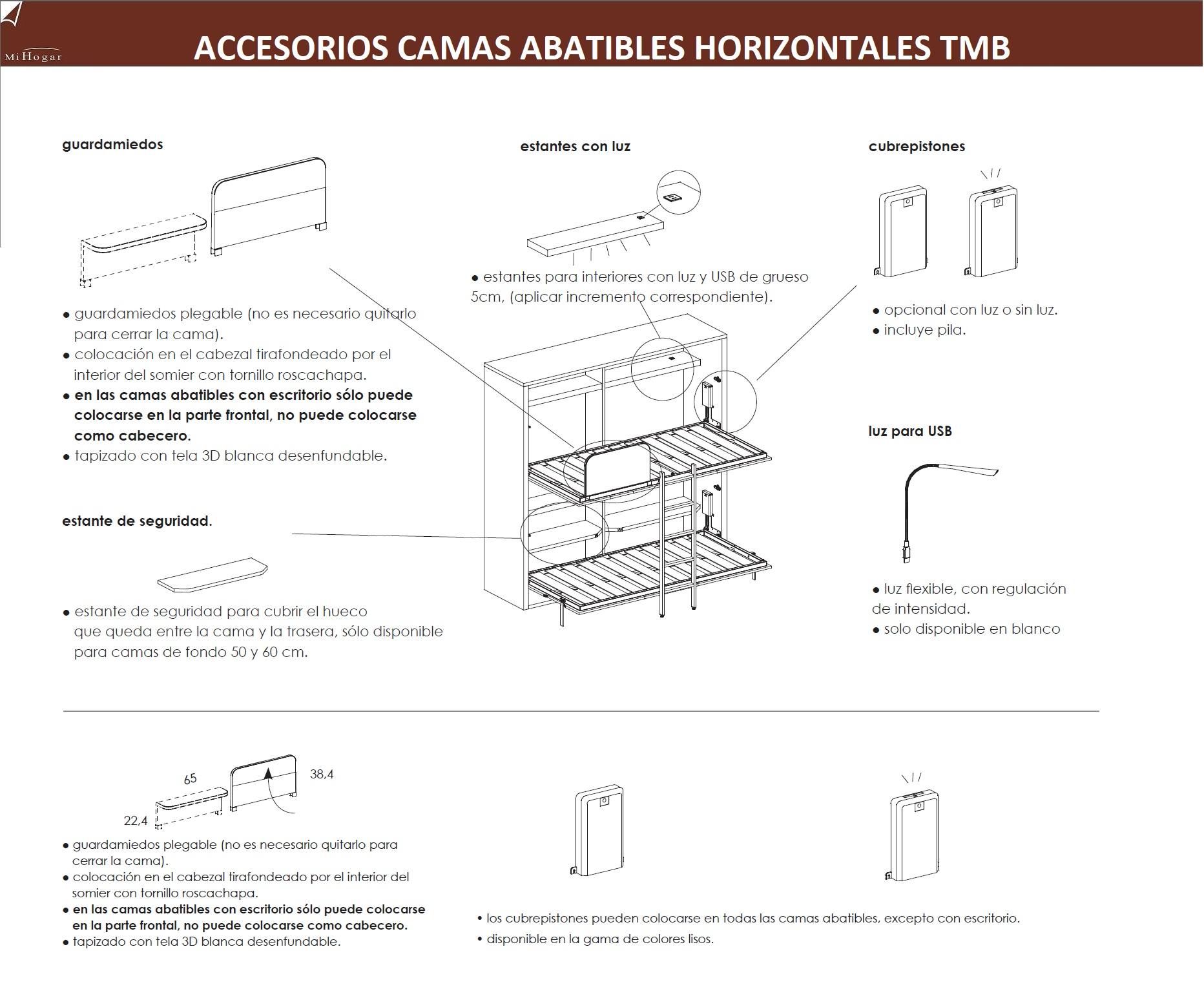 Cama abatible horizontal con armario de puertas - Mecanismo para camas abatibles ...
