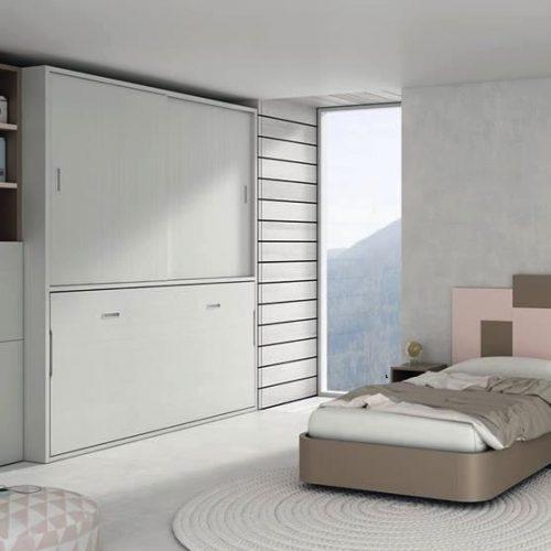 cama abatible horizontal con armario de puertas deslizantes 1 tmb