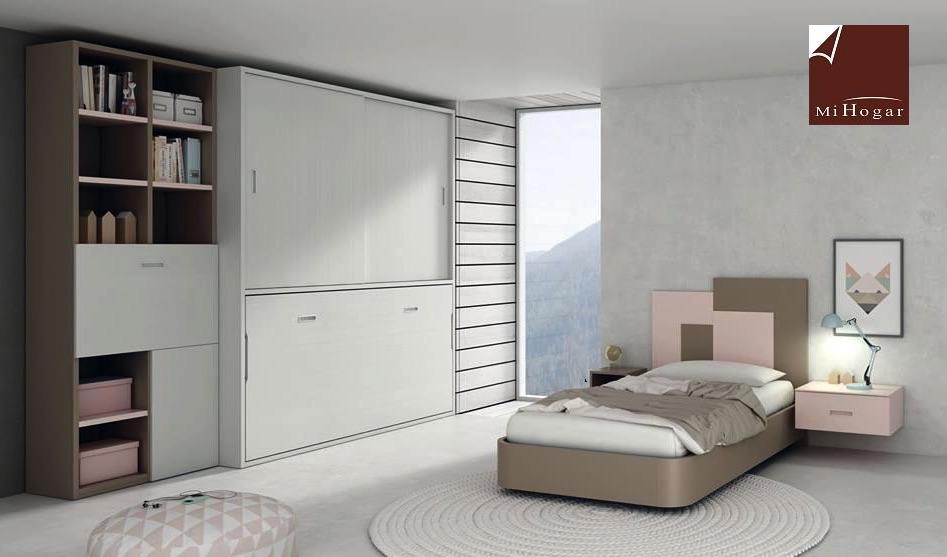 Cama abatible horizontal con armario de puertas - Sistema cama abatible ...