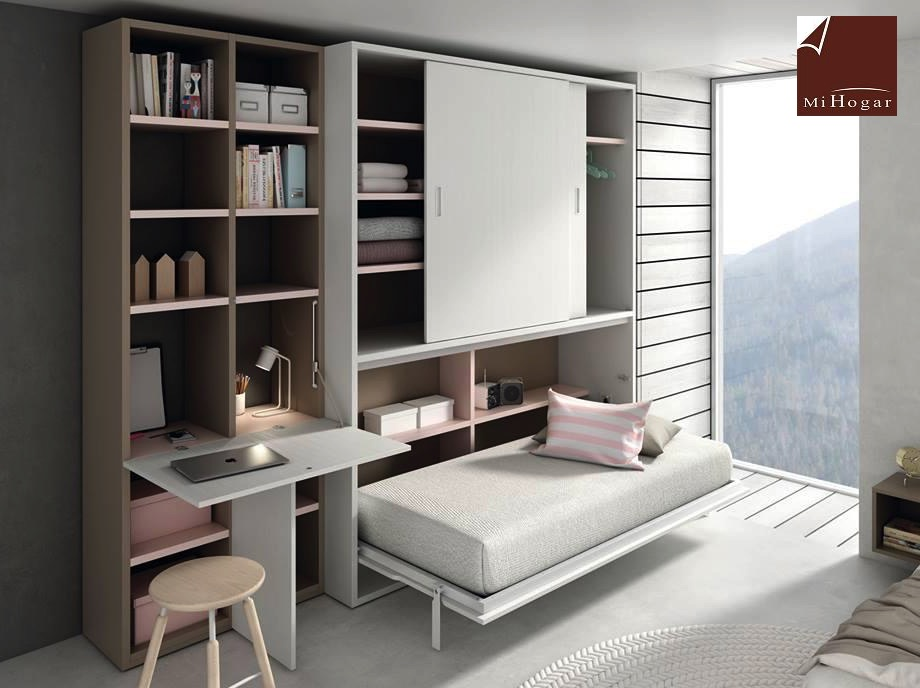 Mueble cama matrimonio abatible armario cama cama matrimonio abatible horizontal tmb armario - Cama abatible matrimonio conforama ...