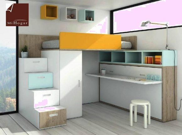 cama abatible horizontal con o sin mesa de estudio tmb 2