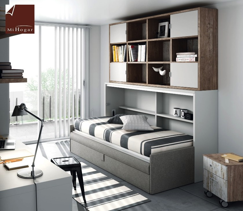 Cama abatible horizontal con sofa tmb muebles mi hogar - Camas abatibles con sofa ...