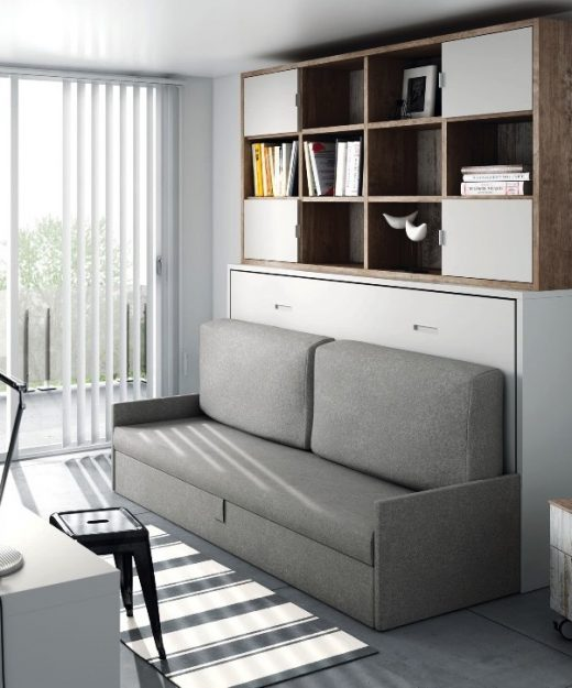 Cama cama plegable 135 decoraci n de interiores y - Cama abatible horizontal 135 ...
