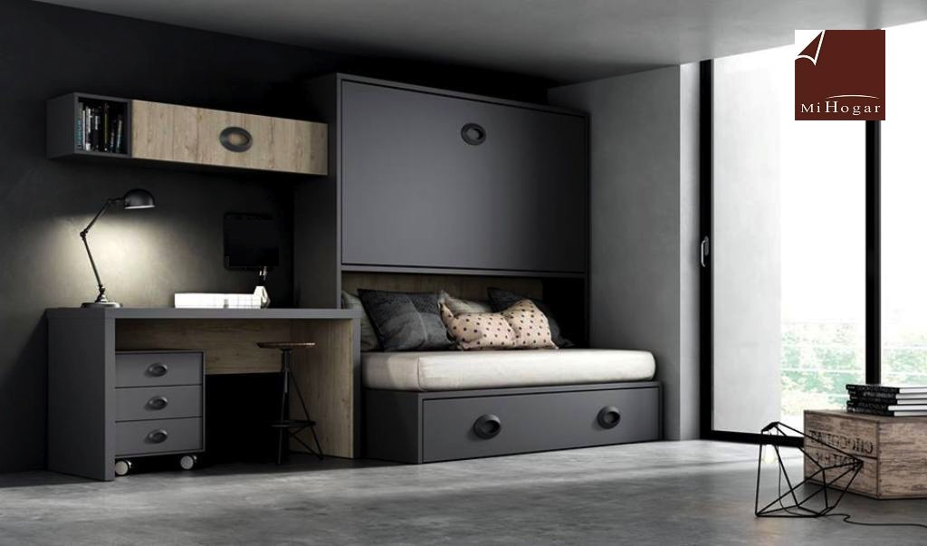 Cama abatible horizontal superior con nido abajo mesa o - Cama con escritorio abajo ...
