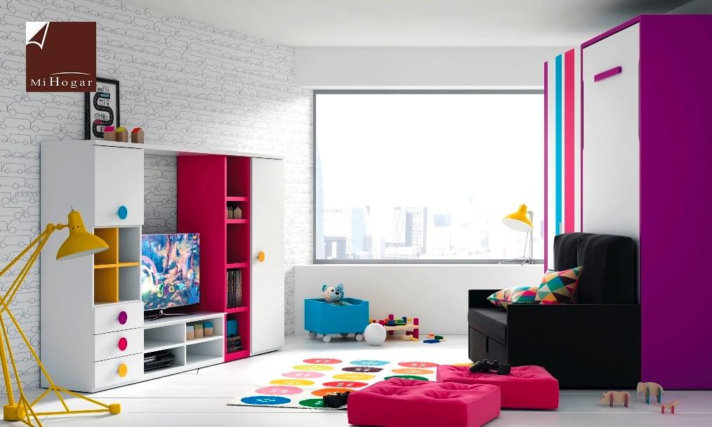Cama abatible vertical con sofa tmb muebles mi hogar for Cama abatible vertical