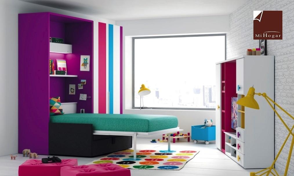 Cama abatible vertical con sofa tmb muebles mi hogar - Medidas camas abatibles ...