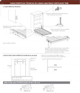 caracteristicas tecnicas camas abatibles verticales pladur dormitorio juvenil tmb