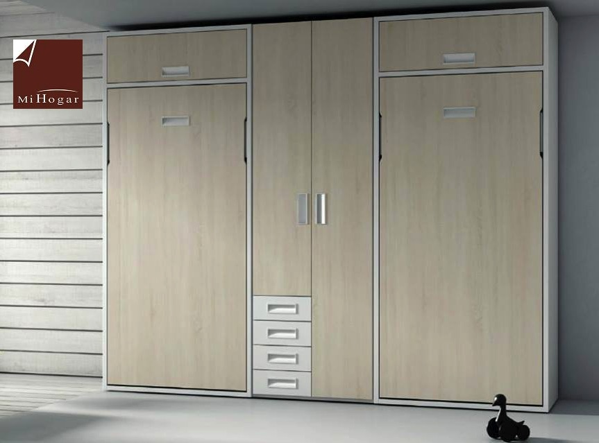 Litera abatible vertical cama tmb muebles mi hogar - Mueble litera abatible ...