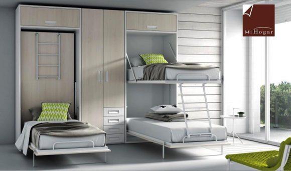 Litera abatible vertical cama tmb muebles mi hogar - Muebles literas abatibles ...