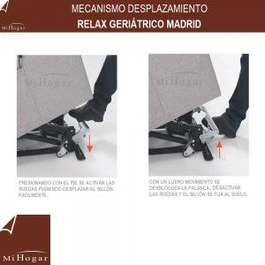 mecanismo de desplazamiento de sillón relax geriatrico madrid