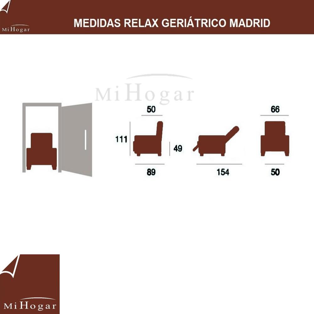 medidas sillón relax geriatrico madrid mueblesmihogar