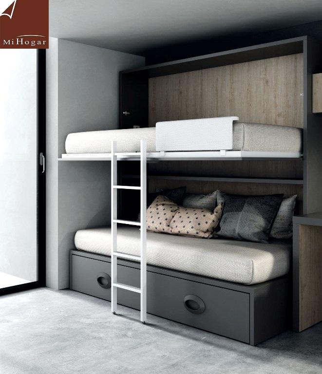 Cat logo dormitorios juveniles low muebles mi hogar for Dormitorio juvenil cama alta