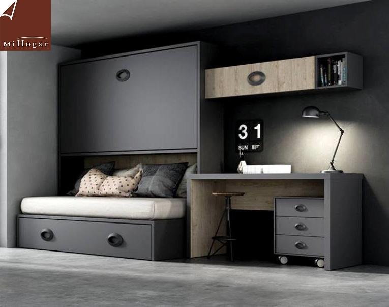Dormitorios juveniles 3 camas dormitorios juveniles for Dormitorios juveniles abatibles