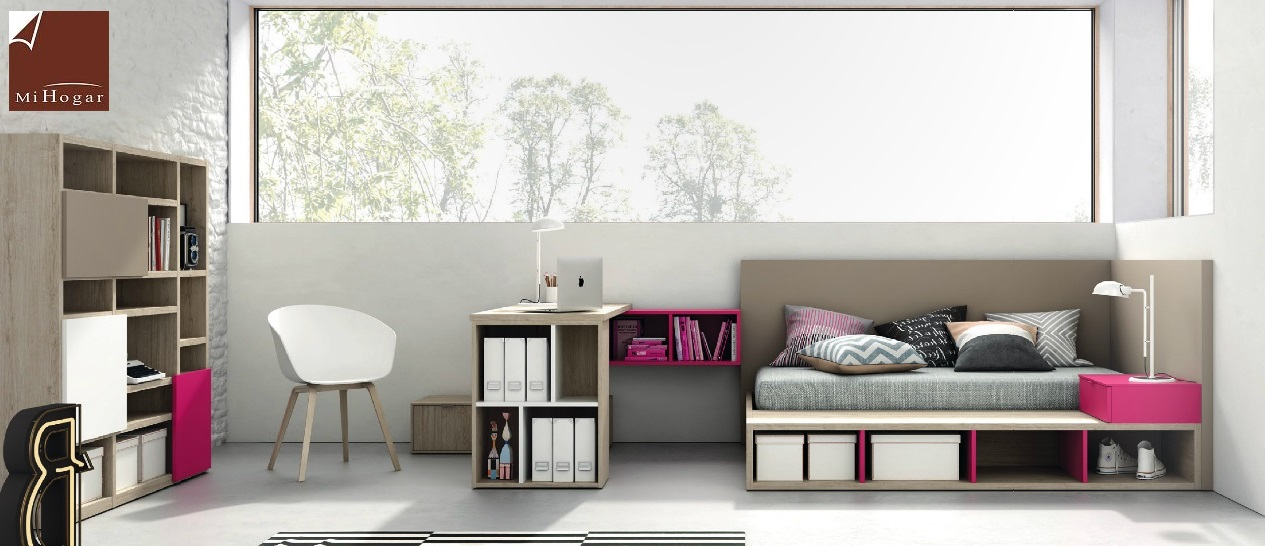 Dormitorios juveniles tmb mi hogar - Dormitorios con canape ...