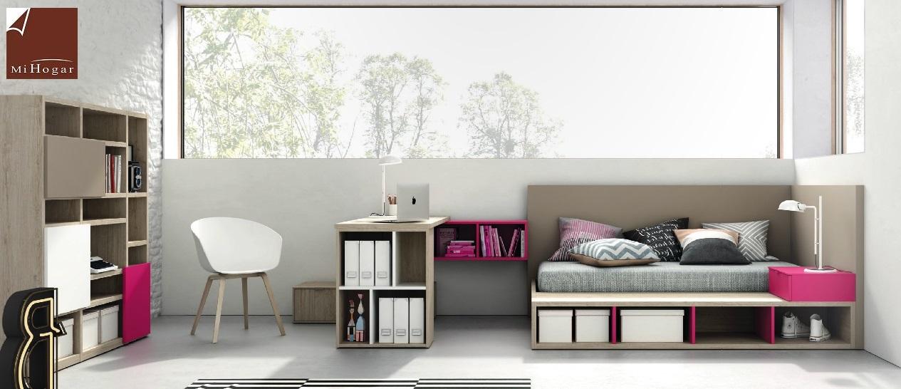 Cama con canapé abatible dormitorio juvenil