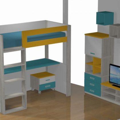 Compra Online Literas Y Camas Tren Muebles Mi Hogar