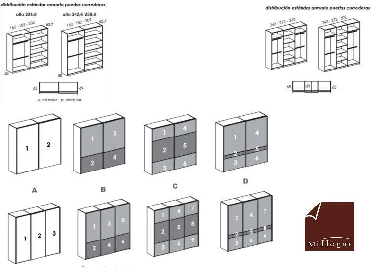 Armarios de puertas correderas juvenil tmb muebles mi hogar - Medidas de puertas ...