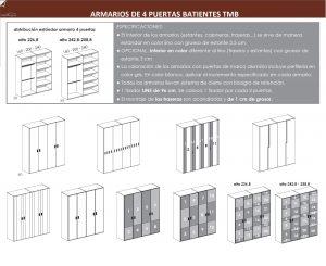 TÉCNICO ARMARIO DE CUATRO PUERTAS BATIENTES DORMITORIO JUVENIL TMB