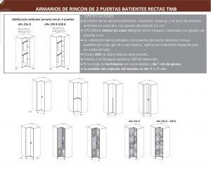TÉCNICO ARMARIO RINCON DOS PUERTAS BATIENTES RECTAS DORMITORIO JUVENIL TMB