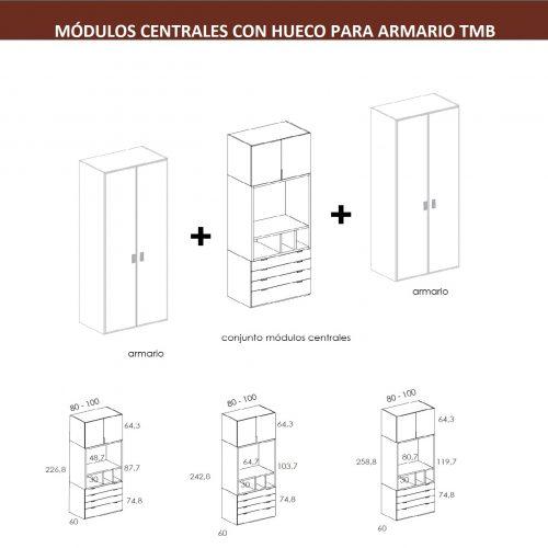 TÉCNICO MODULOS CENTRALES-ARMARIO DORMITORIO JUVENIL TMB