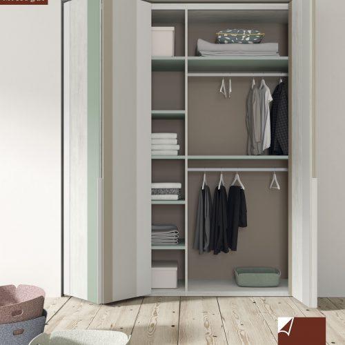 armario cuatro puertas plegables dormitorio juvenil TMB