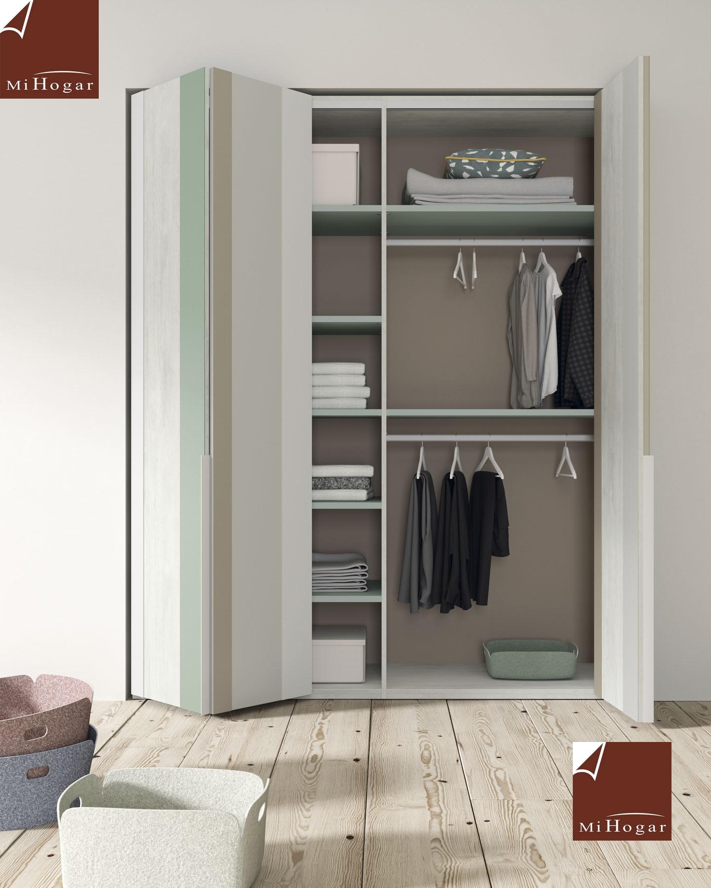 Armarios de puertas batientes plegables juvenil tmb muebles mi hogar - Puertas plegables armarios ...