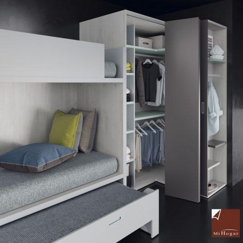armario doble fondo con terminal zapatero compacto dormitorio juvenil TMB