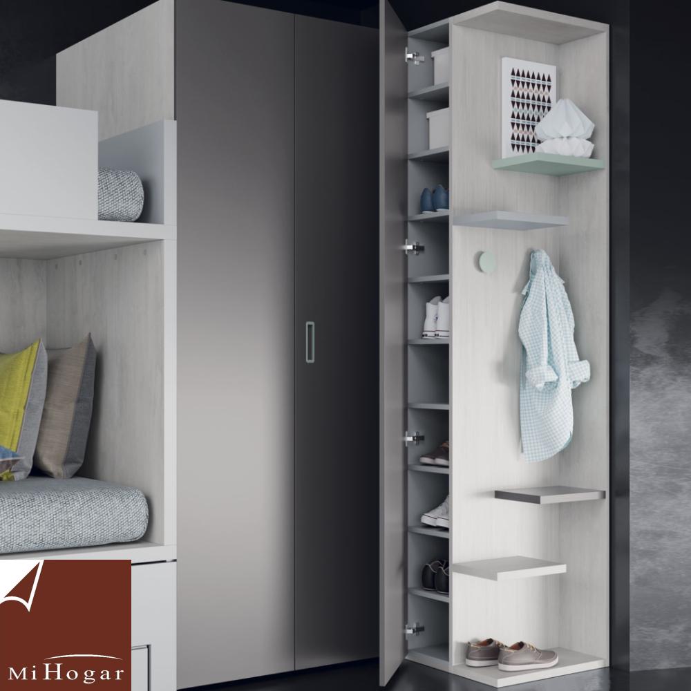 armario doble fondo con terminal zapatero dormitorio juvenil TMB