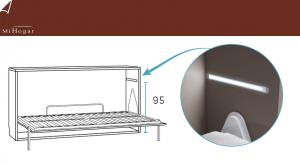 barra led con pulsador tactil camas abatibles gala