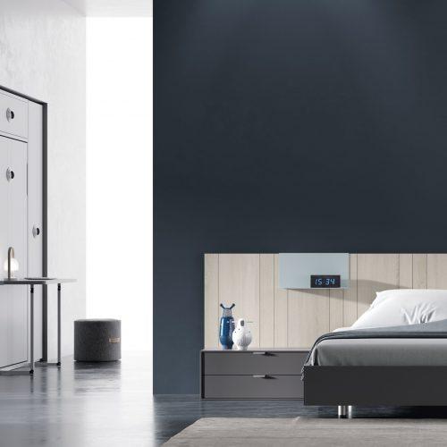 cabecero panel entablillado con bañera dormitorio juvenil TMB