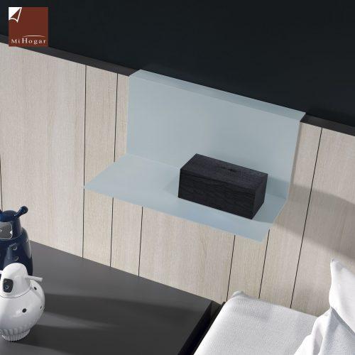 cabecero panel entablillado con bandeja metalica dormitorio juvenil TMB