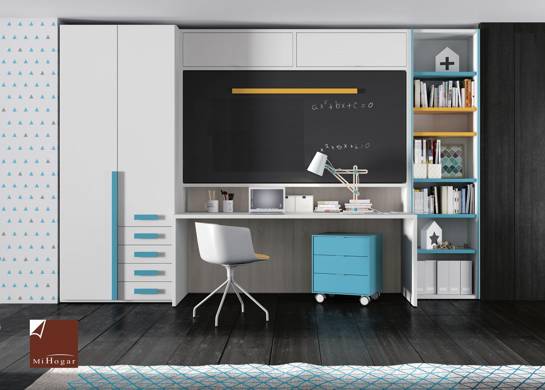 Cama abatible horizontal superior con nido abajo mesa o - Mi mueble online ...