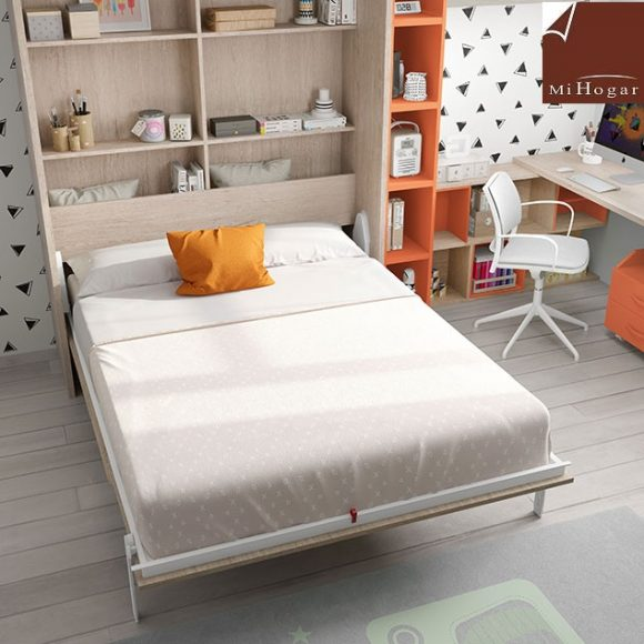 Mueble cama abatible vertical matrimonio finest great for Mueble cama matrimonio
