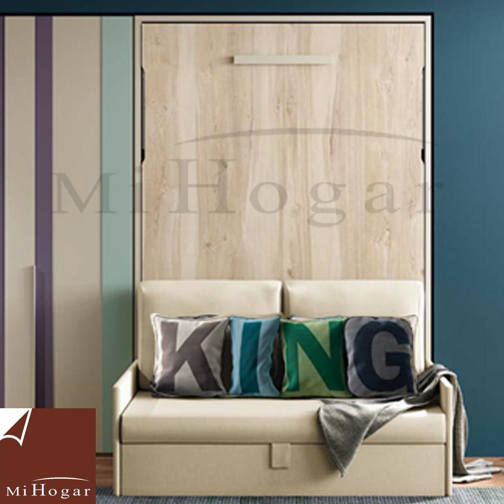Cama abatible vertical con sofa tmb muebles mi hogar for Sofa cama para habitacion juvenil
