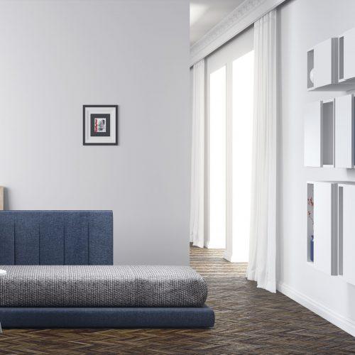 divan tapizado azul dormitorio juvenil TMB