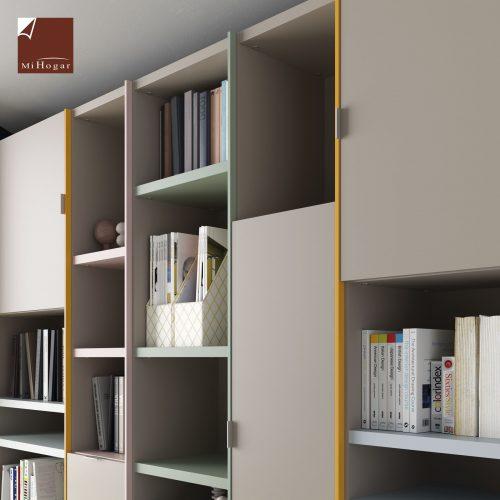 estanterias con puertas dormitorio juvenil TMB