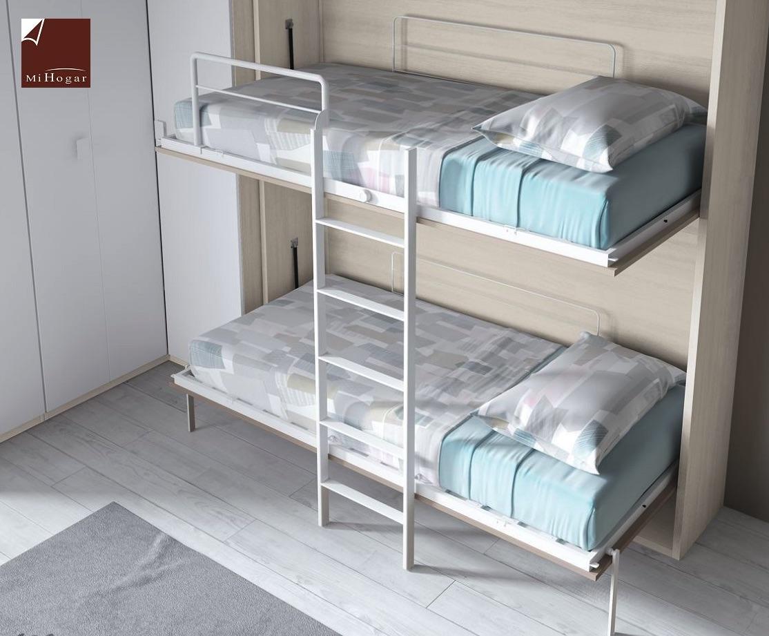 Litera abatible horizontal gala muebles mi hogar - Camas juveniles abatibles ...