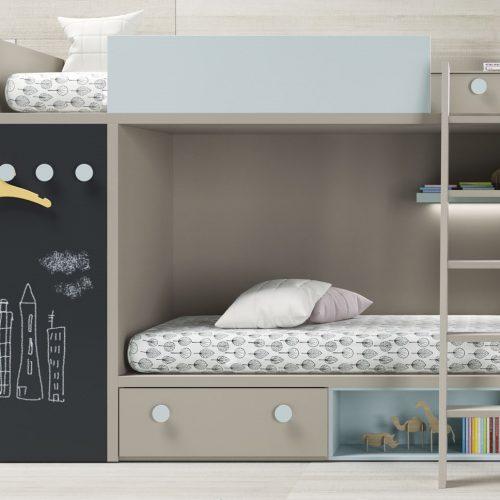 litera modular con armario dormitorio juvenil TMB