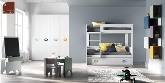 literas tres camas tita camas con armariocon cajones y mesa dormitorio juvenil
