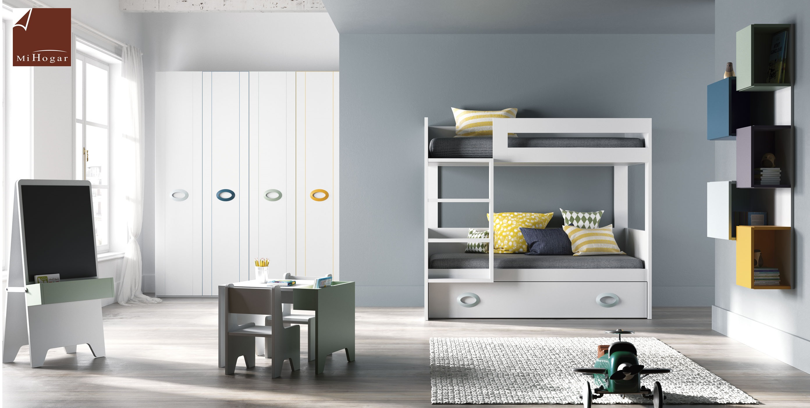 Litera tita tmb muebles mi hogar for Sillon cama con cajones