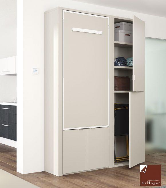 mesa abatible ochenta con estanterias y armario dormitorio juvenil TMB