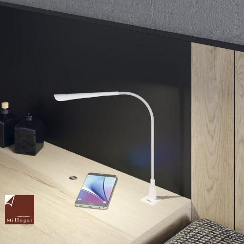 mesa con usb cargador Qi dormitorio juvenil TMB