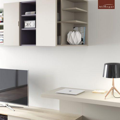 mesa tv escritorio suspendido detalle dormitorio juvenil TMB