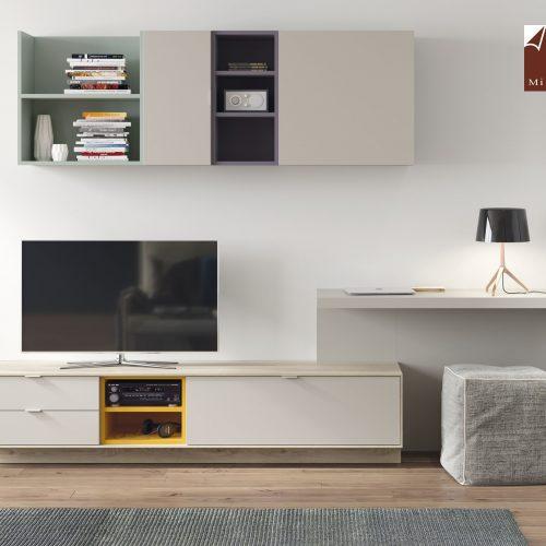 mesa tv escritorio suspendido dormitorio juvenil TMB