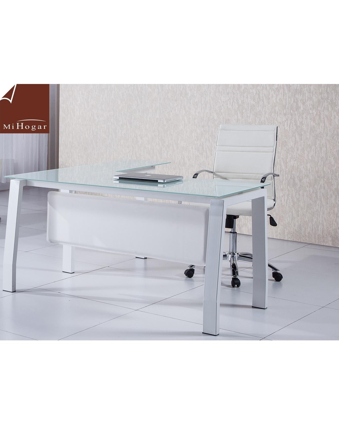 Mesa despacho cristal en l amberes muebles mi hogar for Mesa cristal oficina