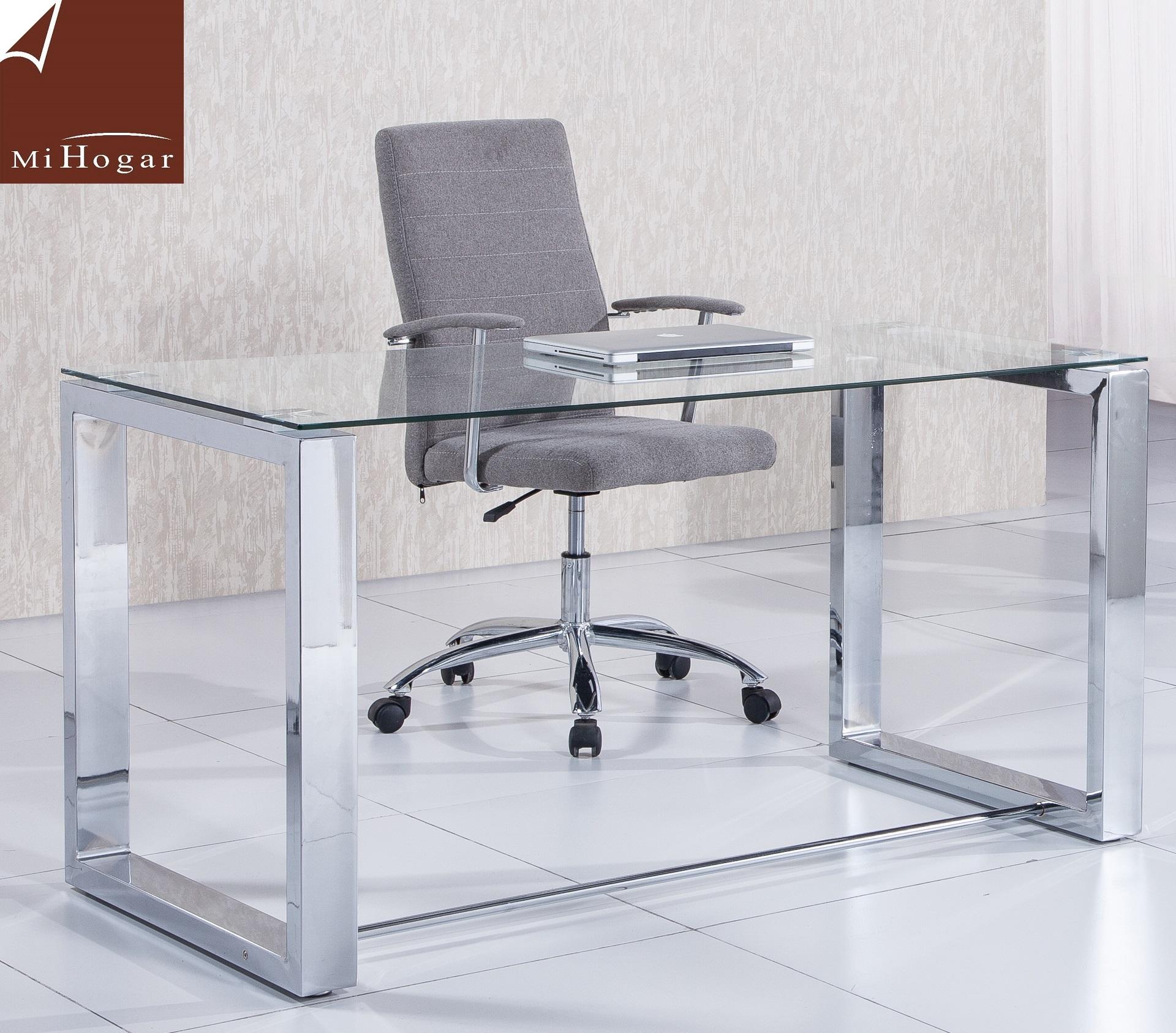 Mesa despacho cristal amsterdam muebles mi hogar for Mesa despacho ikea