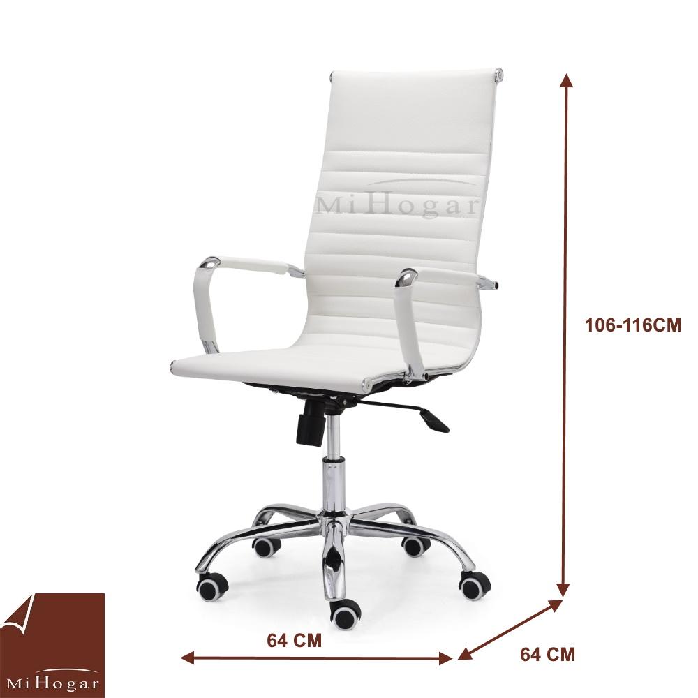 medidas silla estudio blanca sin-con ruedas