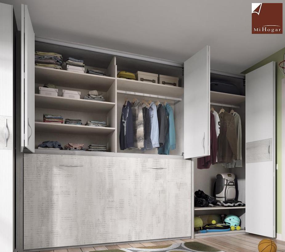 Armarios puertas plegables armarios puertas abatibles - Habitaciones juveniles camas abatibles horizontales ...