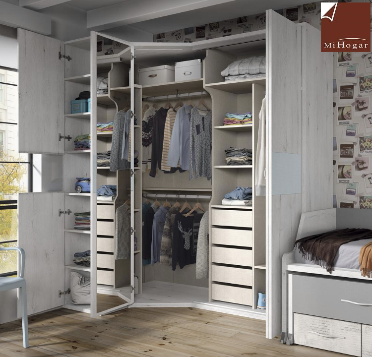 Armario rinc n puerta plegable mox muebles mi hogar - Zapatero para armario ...